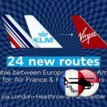 Air France, KLM et Virgin Atlantic partagent leurs codes